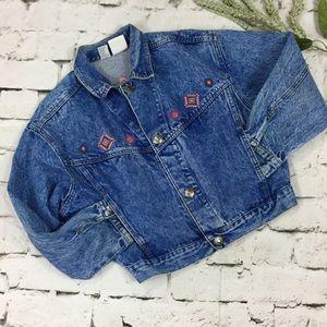 Denim Aztec Stonewashed Jacket